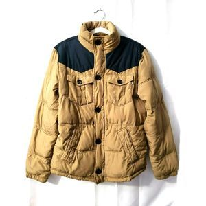 Hollister Jacket Size Small, Navy and tan